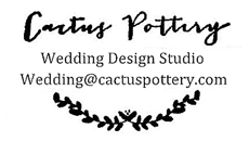Cactus Pottery Wedding Design Studio